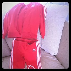 Track suit and matching shoes